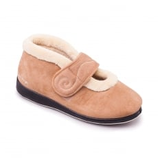 Padders Hush Taupe Slippers