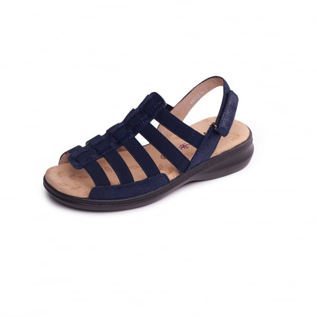 Padders Lesley 730 Navy Sandals