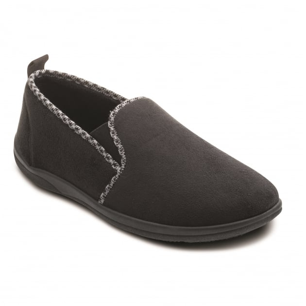 Padders Lewis 470 Black Slippers