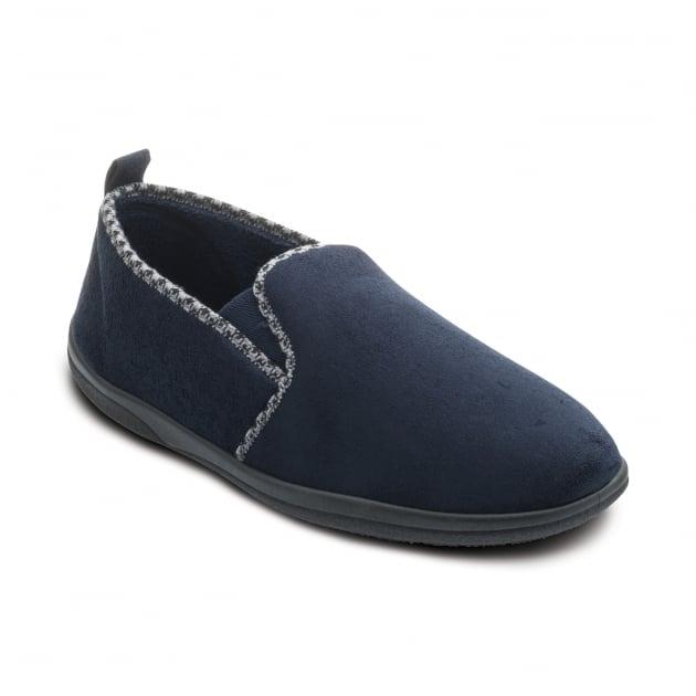 Padders Lewis 470 Navy Slippers