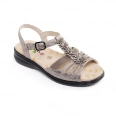 Padders Lizzy Metallic Reptile Sandals