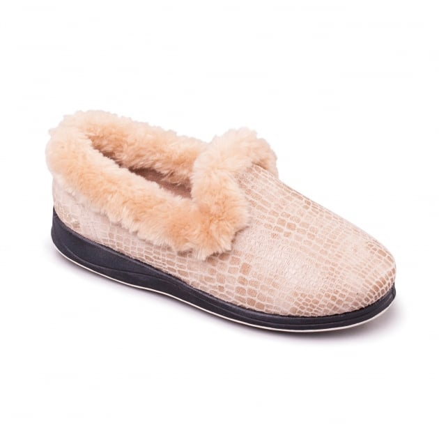 Padders Luxury Buff Slippers