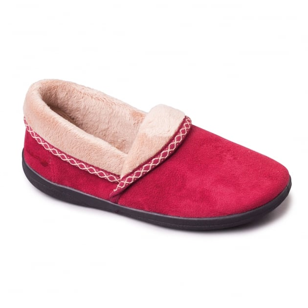 Padders Mellow 460 Ee Fit Wine Slippers