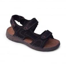 Padders Ocean Black Sandals