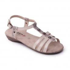 Padders Pearl Buff Combi Sandals