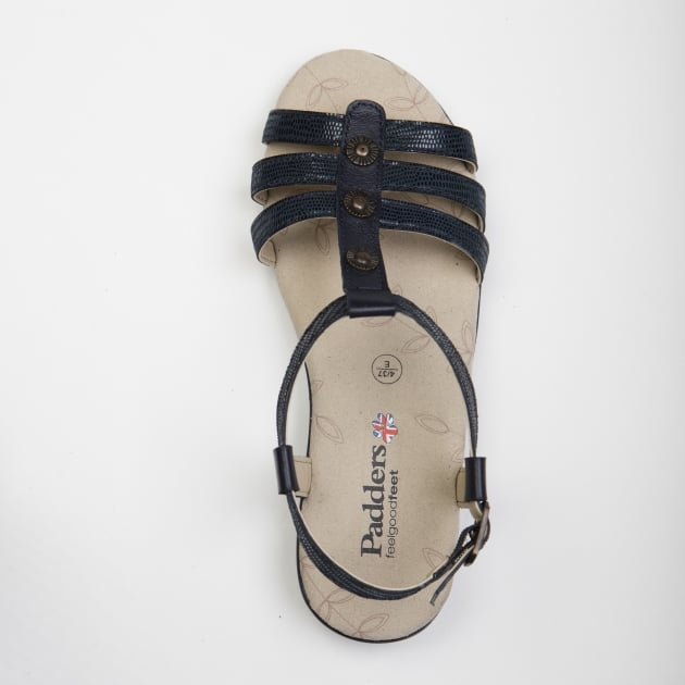 Padders Pearl Navy Combi Sandals