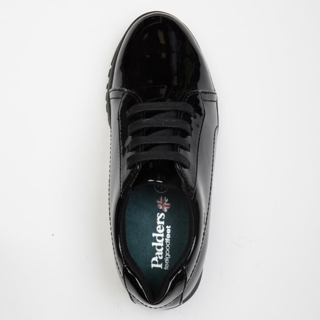 Padders Re Run Black Patent Shoes