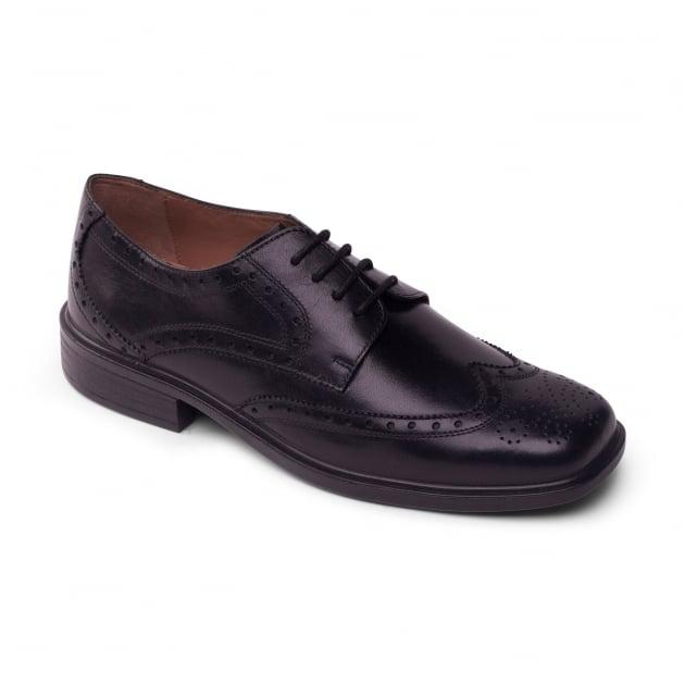 Padders Reid Black Polished Shoes