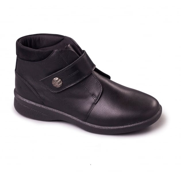 Padders Rejoice 620 - Eee/Eeee Fit Black Boots