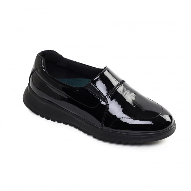 Padders Retreat Black Patent Shoes