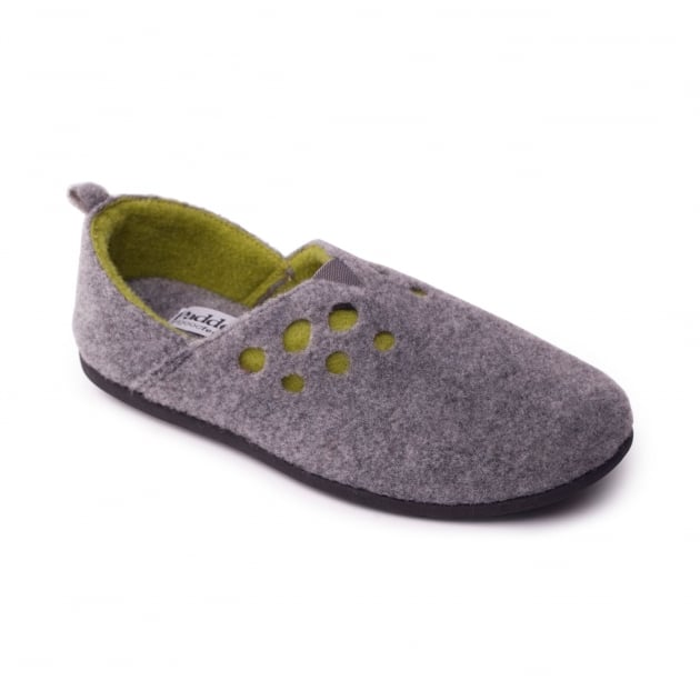 Padders Riva 4010 Grey Slippers