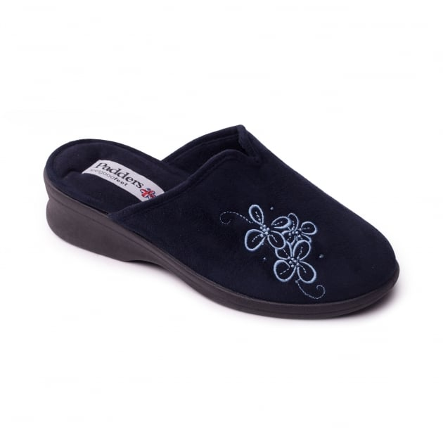 Padders Sable 4003 Navy Slippers