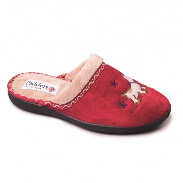Padders Scotty 479 - Ee Fit Red Slippers