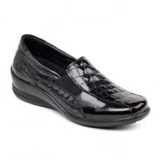 Padders Skye Black Croc Shoes