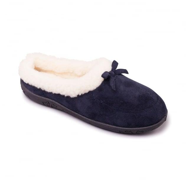 Padders Snug 480 - Ee Fit Navy Slippers