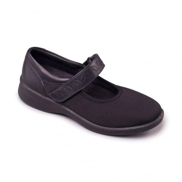 Padders Sprite 2 633N  Black Lycra Shoes
