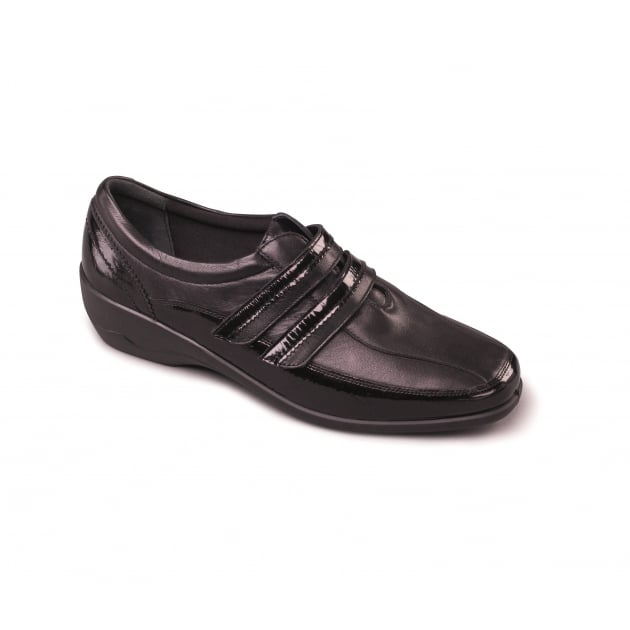 Padders Velvet 612 Ee Fit Black Shoes