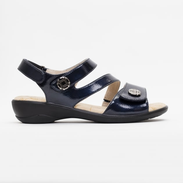 Padders Vienna Navy Patent Sandals