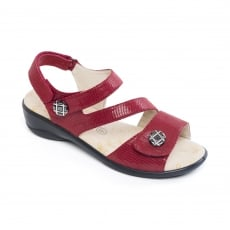 Padders Vienna Red Reptile Sandals