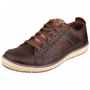 Skechers Irvin Hamal Sk63418 Chocolate/Dark Brown Shoes
