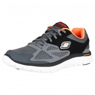 Skechers Flex Advantage Sk51252 Charcoal/Black Shoes