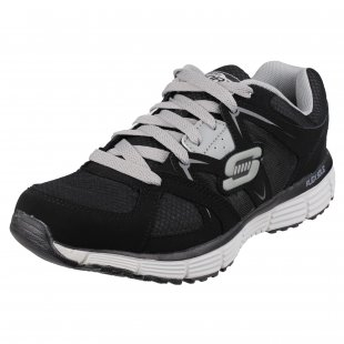 Skechers Agility Outfield Sk51223  Black/Grey Shoes