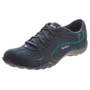 Skechers Breathe Easy - Just Relax Sk22459 Navy/Aqua Shoes