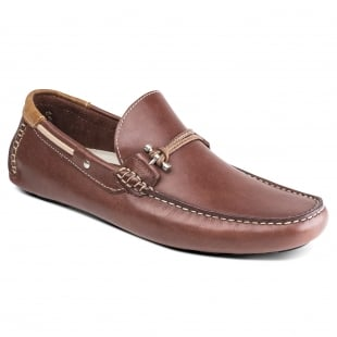 Front Emerson Brown Leather Shoes
