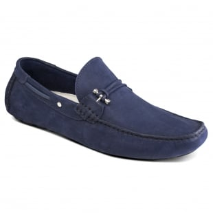 Front Emerson Navy Nubuck Shoes