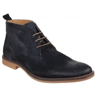 Base London Dore Dirty Suede Navy Boots