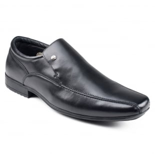 Front Belmont  Black Shoes