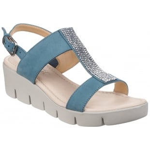The Flexx Strass Em Up Nubuck Petrol Sandals