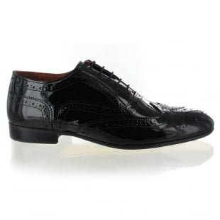 Marta Jonsson Mens Lace Up Classic Brogue J2348P Black Shoes