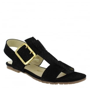 Marta Jonsson Womens Sandals With Buckles 10761S Black Sandals