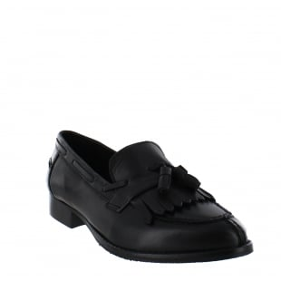 Marta Jonsson Womens Tassel Loafers 1079L Black Shoes