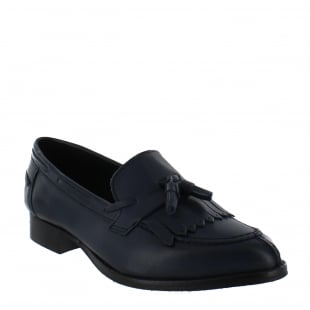 Marta Jonsson Womens Tassel Loafers 1079L Navy Shoes