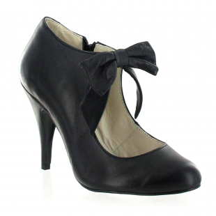 Marta Jonsson Mary Jane Courts With A Bow 13594L Black Shoes