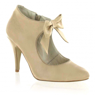 Marta Jonsson Mary Jane Courts With A Bow 13594L Beige Shoes