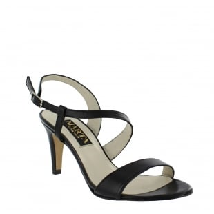 Marta Jonsson Womens Asymetric Sandal 1508L Black Sandals