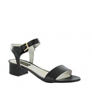 Marta Jonsson Womens Sandal With Buckle 2107L Black Sandals