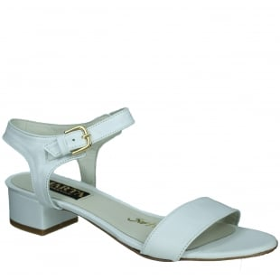 Marta Jonsson Womens Sandal With Buckle 2107L White Sandals