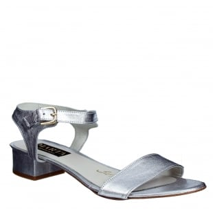 Marta Jonsson Womens Sandal With Buckle 2107L Silver Sandals