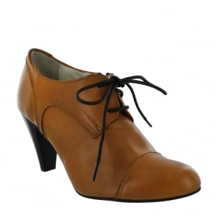 Marta Jonsson Womens High Heeled Lace Up Shoe 4740L Tan Shoes