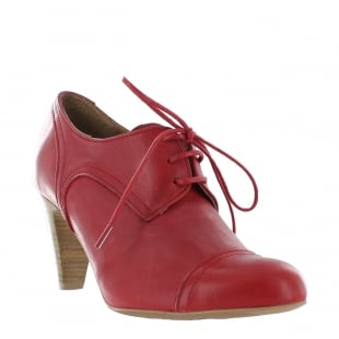 Marta Jonsson Womens High Heeled Lace Up Shoe 4740L Red Shoes