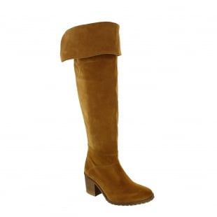 Marta Jonsson Womens Knee High Boots 4891S Tan Boots