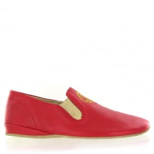 Marta Jonsson Leather Slippers 9002L Red Slippers