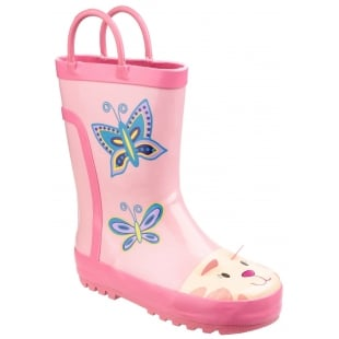 Cotswold Puddle Boot Pink Girls