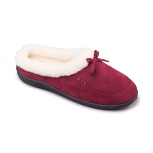 Padders Snug 480 - Ee Fit Burgundy Slippers