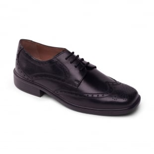 Padders Reid 146 Black Polished Shoes