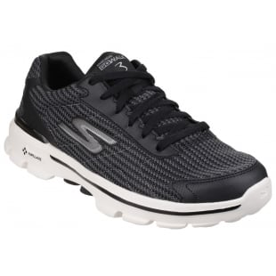 Skechers Go Walk 3 Fit Knit Black/White